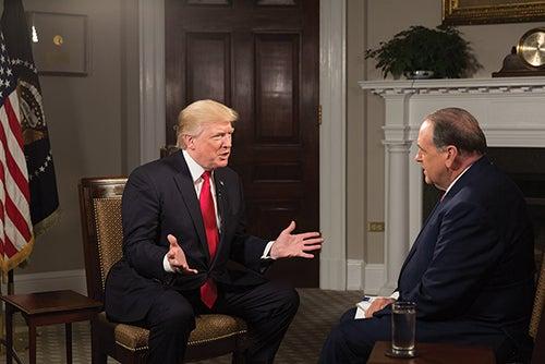 Huckabee interviews President Trump