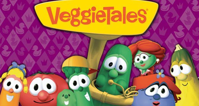 VeggieTales   TBN Veggie Tales Larry The Cucumber And Bob The Tomato
